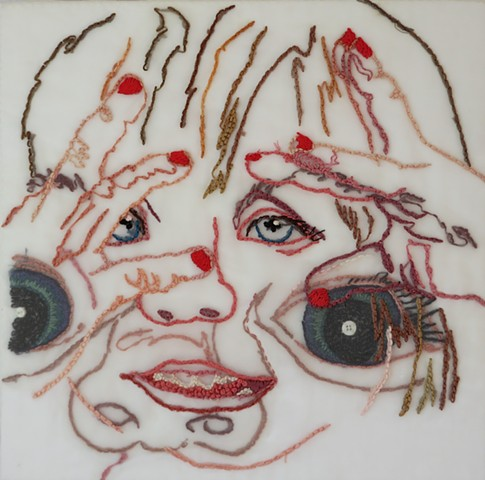Eyes/child/face/SanFrancisco/Fiber/Embroidery