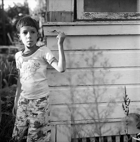 Boy at Barn