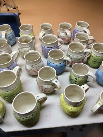 Porcelain Cups by Laura Peery