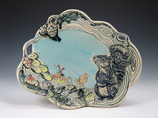 Garden of Delight Squirrel Plate