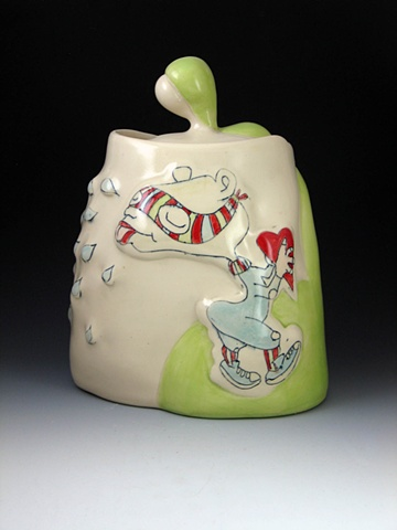 Heart Thief Covered Jar (Front)