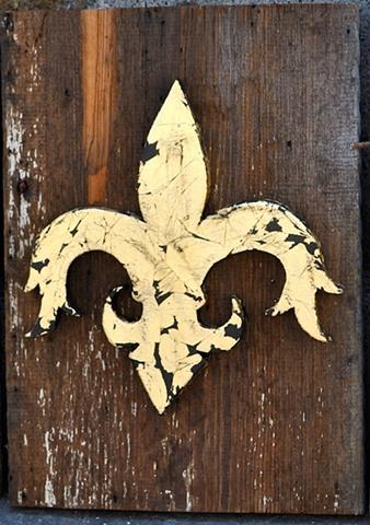Gold Leafed Fleur De Lis