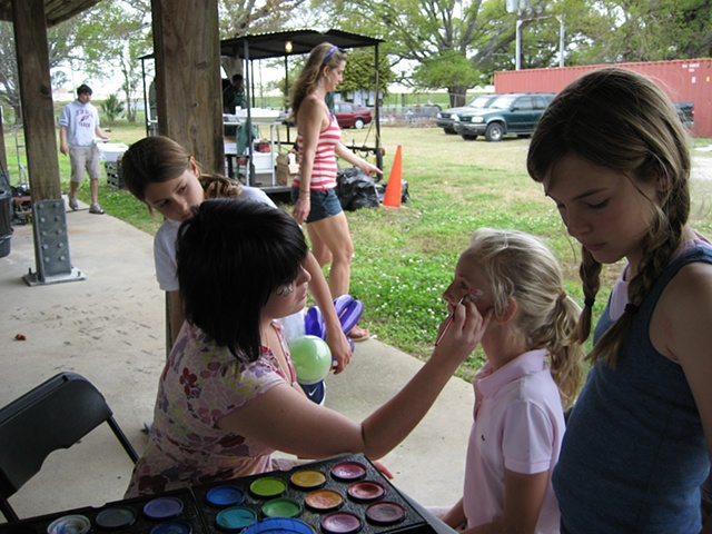 Shannon Painting at a Picnic