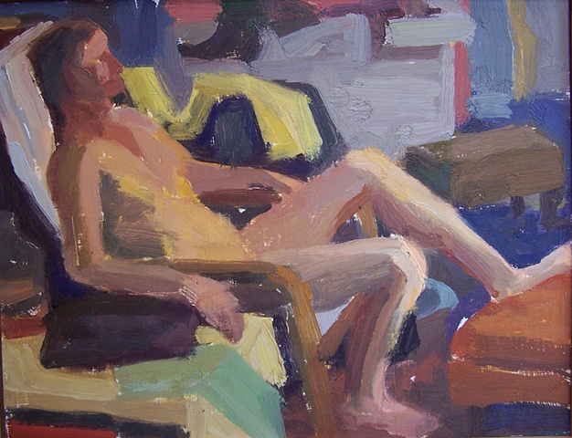 Male Model with Yellow Cloth