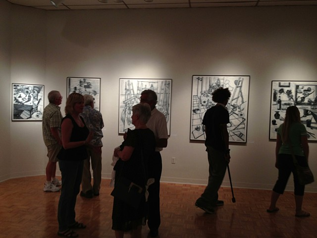 Solo exhibit at Wright State University in the Experimental Gallery, Dayton, Ohio