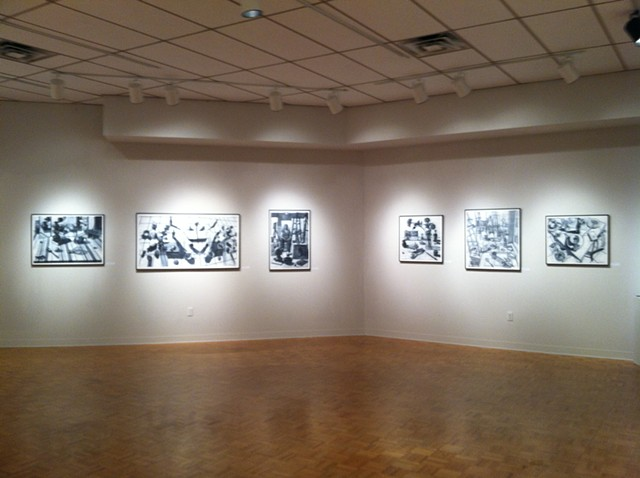 Solo exhibit at Wright State University in the Experimental Gallery in Dayton, Ohio