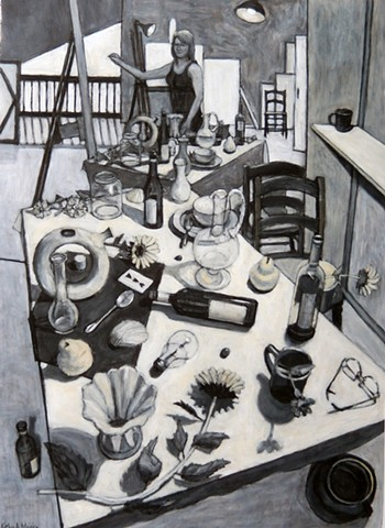 Self Portrait Drawing Still Life