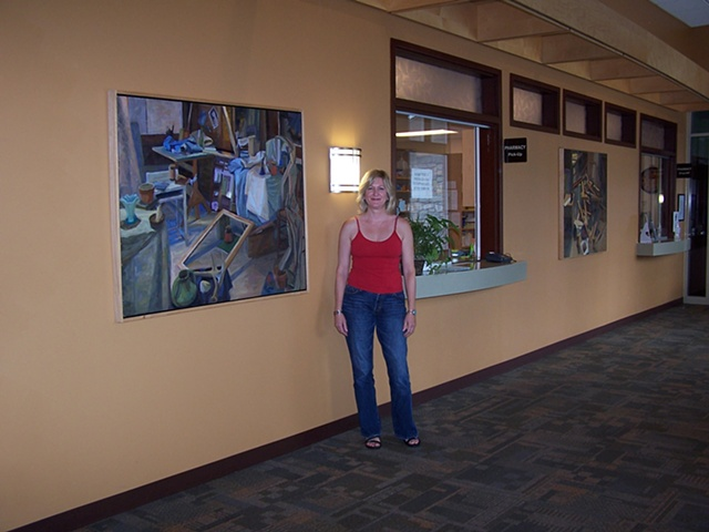 Installation shot of two of my paintings purchased in 2008 for the lobby of Family Heath Inc., Greenville, OH medical building  (corporate collection).
