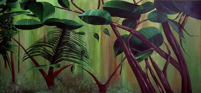 Forest 1 - 3.  Painting at Palmetto Bay Office Complex, Miami.