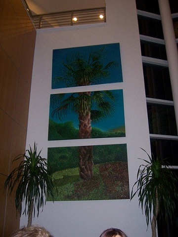 Painting in Main lobby at Palmetto Bay Office Complex Miami
