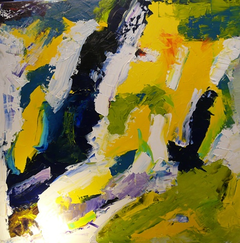 Furioso in Yellow - Oil on Canvas - 30x30 - Sold