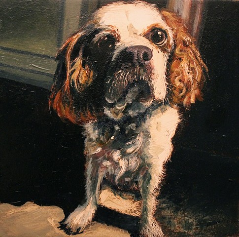 """matt lively"" dog portrait painting"