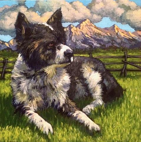 Matt Lively dog portrait painting