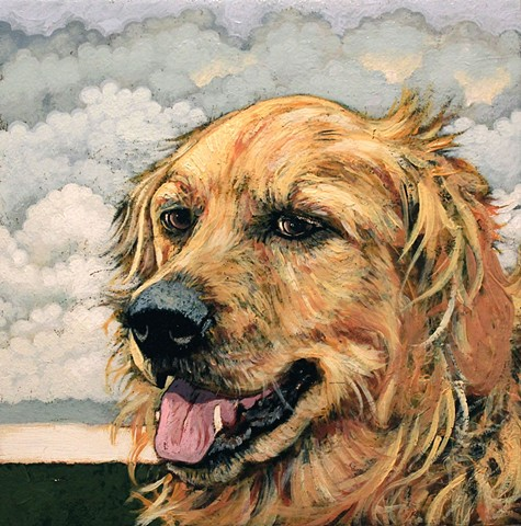 dog portrait painting matt lively