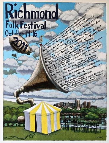 The Richmond Folk Festival official poster