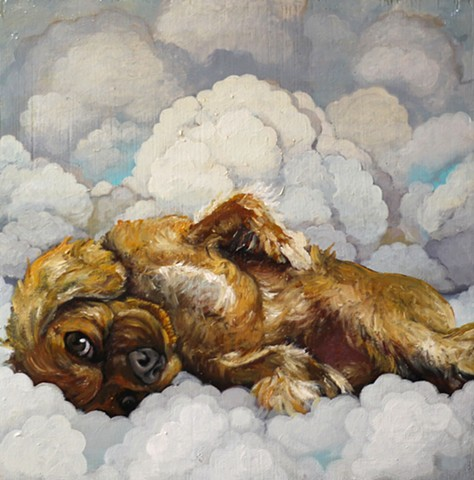 Dog portrait painting art matt lively