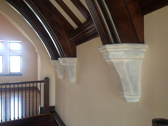Faux Limestone Archway Caps