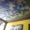 Trompe l'oeil ceiling and custom finish walls.