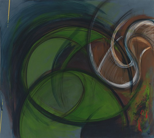 """Chris D. Smith, Chicago, IL Artist, Abstract Painter, Yesterday, 2011, acrylic and charcoal on panel, 36"""" x 40"""""""