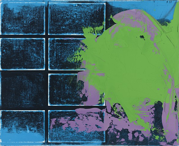 """Chris D. Smith, Chicago, IL Artist, Abstract Painter, Untitled IM24, 2012, acrylic, collage and oil on panel, 9"""" x 11"""""""