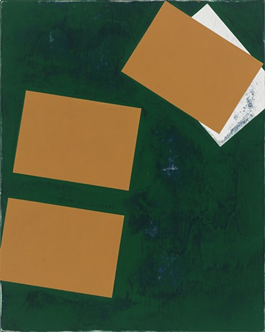 """Chris D Smith, Chicago, IL Artist, Abstract Painter, Untitled IM42, 2015, acrylic, collage and transfer on panel, 20"""" x 16"""""""