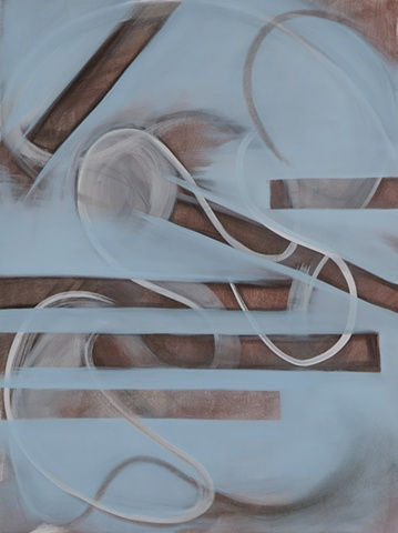 """Chris D. Smith, Chicago, IL Artist, Abstract Painter, Blinders, 2011, acrylic, charcoal and oil on panel, 24"""" x 18"""""""