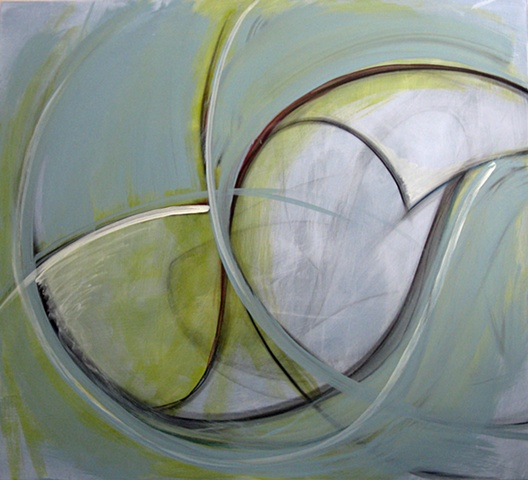 """Chris D Smith, Chicago, IL Artist, Abstract Painter, Tomorrow, 2010, acrylic and charcoal on panel, 36"""" x 40"""""""