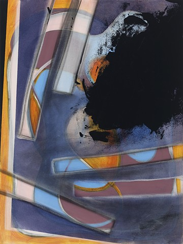 """Chris D Smith, Chicago, IL Artist, Abstract Painter, Blinders 2, 2011, acrylic, charcoal and oil on panel 24"""" x 18"""""""