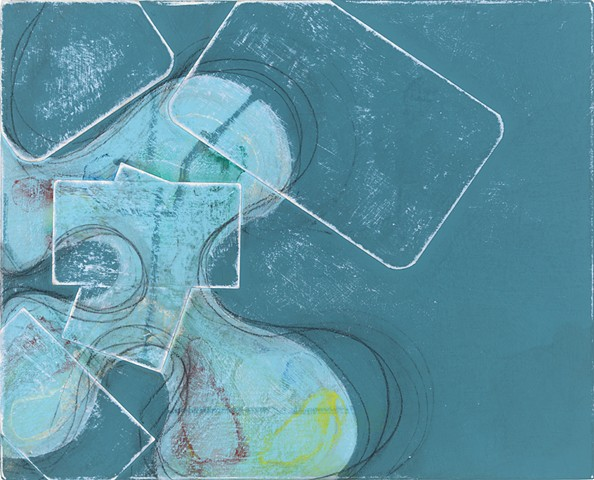 """Chris Smith, artist, chicago, Untitled IM30, 2013, acrylic, collage and charcoal on panel, 9"""" x 11"""""""