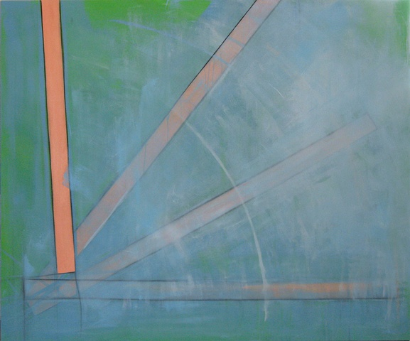 """Chris D Smith, Chicago, IL Artist, Abstract Painter, Stand, 2011, acrylic, charcoal and oil on canvas, 50"""" x 60"""""""