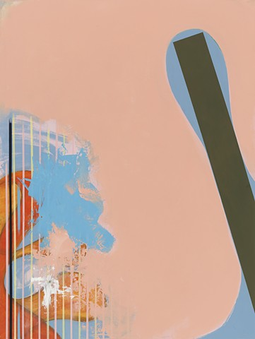 """Chris Smith, Chicago, IL Artist, Abstract Painter, Untitled IM23, 2012, acrylic and oil on panel, 24"""" x 18"""""""