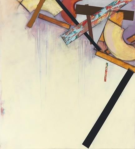 "Chris D. Smith, BPOS2, 2013, acrylic, oil and charcoal on panel, 40"" x 36"""