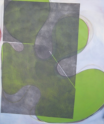 """Chris D Smith, Chicago, IL Artist, Abstract Painter, Untitled IM11, 2009, acrylic, charcoal and oil on canvas, 60"""" x 50"""""""