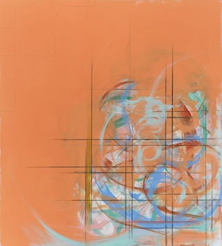 """Chris D Smith, Untitled IM29(ek), 2013, acrylic, oil, charcoal and collage on panel, 40"""" x 36"""""""