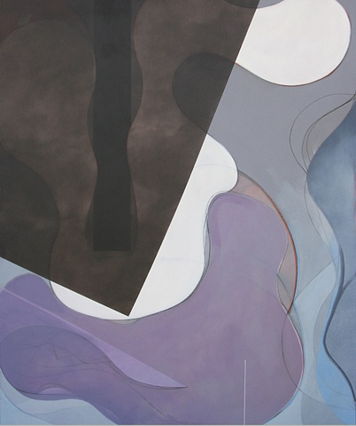 """Chris D Smith, Chicago, IL Artist, Abstract Painter, Untitled IM7, 2008, acrylic, charcoal and oil on canvas, 60"""" x 50"""""""