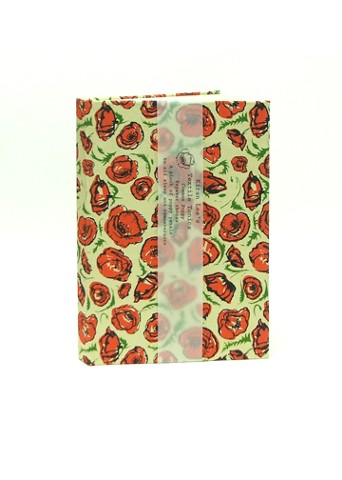 Poppy pattern case bound book