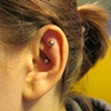 cartilage piercing with 14gauge curve from Industrial Strength