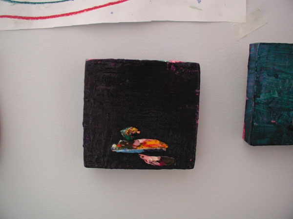 small, original, painting, contemporary art, Rina, Miriam, Drescher, artist, purple, fine art, Rochester, NY