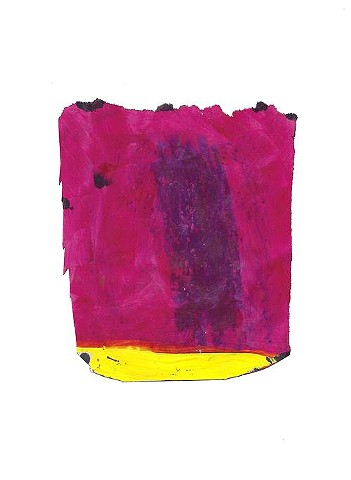 bright pink raw art abstract painting