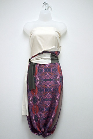 Tongva Apron as Skirt Title of print: Theo II Saturated