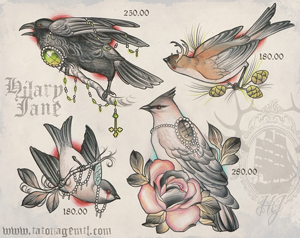 Available tattoo designs