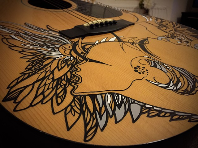 Art on guitar / Detail