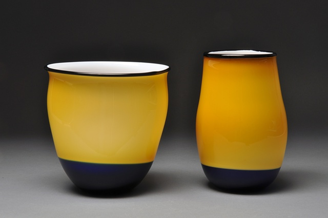 Bowl and Vase Pair