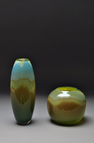 Vase and Bowl Pair