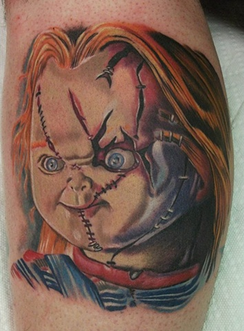 chucky tattoo page pictures to pin on pinterest tattooskid. Black Bedroom Furniture Sets. Home Design Ideas