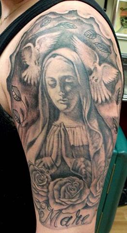 Religious half sleeve