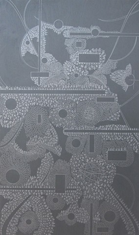 abstract graphite drawing by Michael Tegland