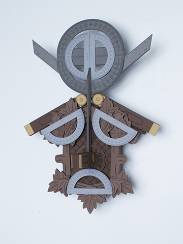 Golem #10; cuckoo clock with tools
