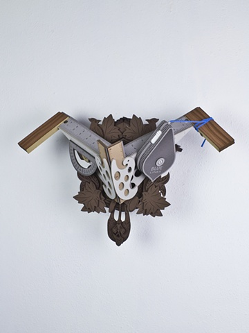 Golem #41; cuckoo clock with tools