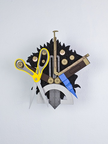 Golem #38; cuckoo clock with tools